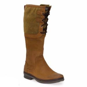 NWT UGG Elsa Waterproof Boot Chestnut Leather